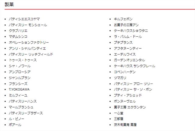 山手調理製菓専門学校の就職実績02